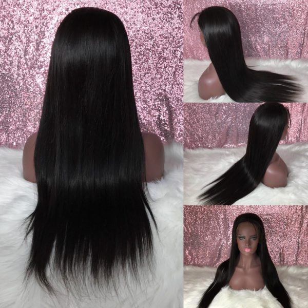 Canbodian straight lace wig